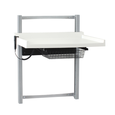 BSR Wallmounted Height Adjustable Changing Table - Adjustable changing table