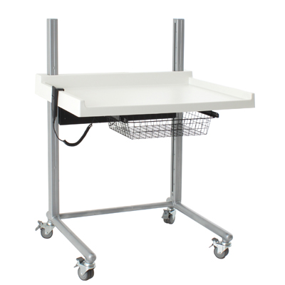 BSR Freestanding Height Adjustable Changing Table With Castors - Adjustable changing table